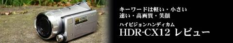 ハイビジョン・メモリースティック記録ビデオカメラ HDR-CX12 実写レビュー